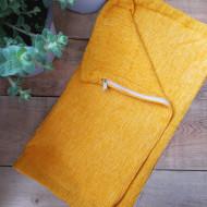 maxilari_oxra_pillow_yellow_chenille_40X40