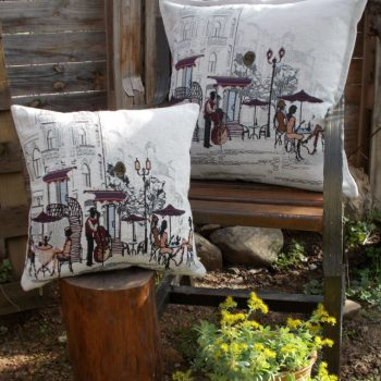 maxilari_yafanto_cafe_de_paris_tapestry_pillow