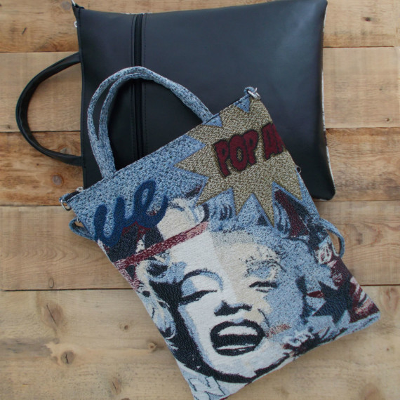 tsanda_Marilyn-Monroe_leather_bag_31X37
